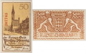 PIENIĄDZ WOJENNY, 50 fenigów, Gdańsk, 1.11.1918