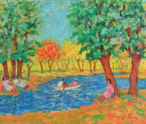 Nathan GUTMAN (1898-1987), Odpoczynek nad rzeką