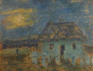 Tadeusz MAKOWSKI (1882-1932), Nokturn z chatą i ulami, ok. 1906