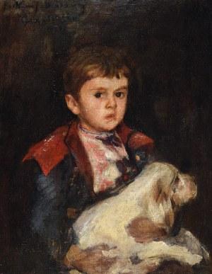Jan CIĄGLIŃSKI (1858-1913), Chłopczyk z pieskiem - Przyjaciele, 1888