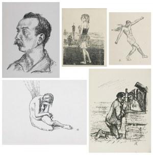 Wlastimil HOFMAN (1881-1970), Zestaw 5 litografii