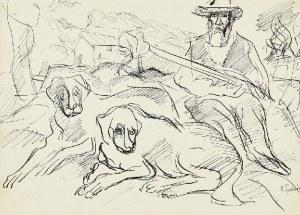 Henryk EPSTEIN (1890-1944), Myśliwy z psami