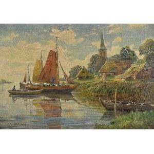 Max F. RICHTER-REICH (1896-1950), Nad brzegiem rzeki, 1945