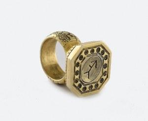Tłok pieczętny w kształcie pierścienia, z herbem Piłsudskich