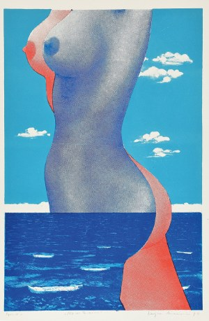 Lucjan MIANOWSKI (1933-2009), Akt na tle morza, 1974
