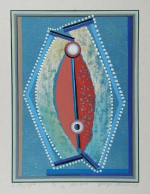 HENRYK PŁÓCIENNIK (UR. 1933), Monotypia +, 2011