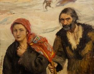 Teodor Axentowicz (1859 Braszów/Rumunia - 1938 Kraków), Na gromniczną