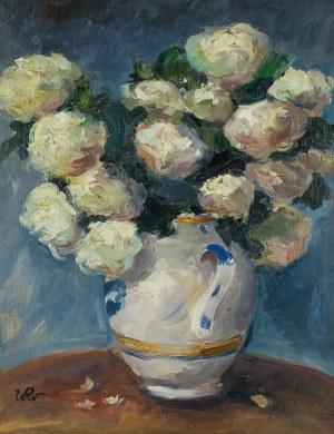 Wojciech Weiss (1875 Leorda na Bukowinie - 1950 Kraków), Bukiet białych róż