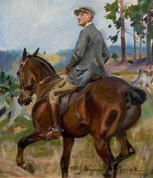 Wojciech Kossak (1856 Paryż - 1942 Kraków), Portret mężczyzny na koniu, 1925 r.