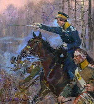 Wojciech Kossak (1856 Paryż - 1942 Kraków), Bitwa pod Grochowem, 1941 r.