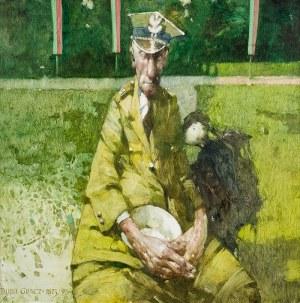 Jerzy Duda-Gracz (1941 Częstochowa - 2004 Łagów), Motyw polski - Obiad bohaterów, Obraz 1873, 1995 r.