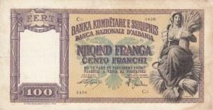Albania, 100 Franga, 1940, FINE, p8