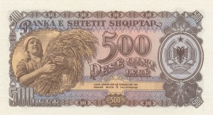 Albania, 500 Leke, 1957, UNC, p31