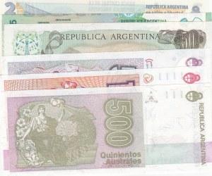 Argentina, 6 Pieces UNC Banknotes