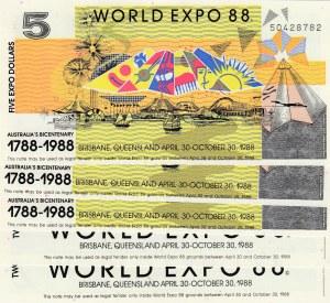 Australia, 2/5 Dollars, Wolrd Expo 1988