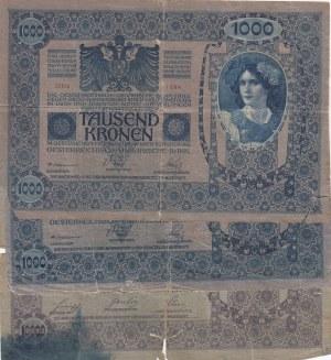Austria, 1000 Kronen and 10.000 Kronen (2), 1902 /1908, POOR / FINE, p59 / p62, (Total 3 banknotes)