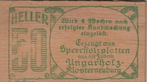 Austria, Notgeld, 50 Heller, 1920, UNC