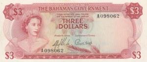 Bahamas, 3 Dollars, 1965, UNC, p19a