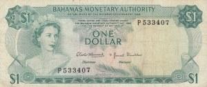 Bahamas, 1 Dollar, 1968, VF (-), p27