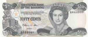 Bahamas, 50 Cents, 1974, UNC, p42a