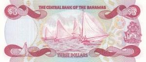 Bahamas, 3 Dollars, 1974, UNC, p44a