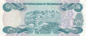 Bahamas, 10 Dollars, 1974, AUNC, p46a
