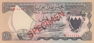 Bahrain, 100 Fils, 1964, UNC, p1s, SPECIMEN