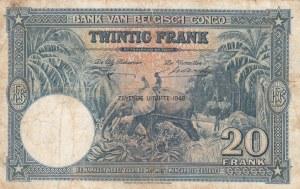 Belgian Congo, 20 Francs, 1948, VF (+), p23