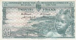 Belgian Congo, 20 Francs, 1957, XF, p31