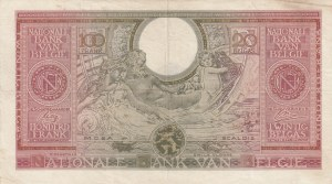 Belgium, 100 Francs-20 Belgas, 1943, VF (+), p123