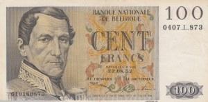 Belgium, 100 Francs, 1952, XF, p129a