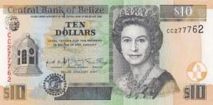 Belize, 10 Dollars, 2001, UNC, p62b