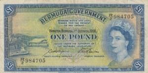 Bermua, 1 Pound, 1966, VF, p20d