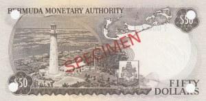 Bermuda, 50 Dollars, 1974, UNC, p32s, SPECIMEN