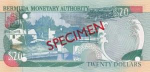 Bermuda, 20 Dollars, 2000, UNC, p53s, SPECIMEN