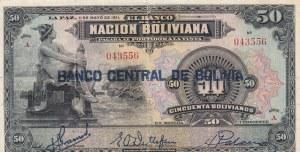 Bolivia, 50 Bolivianos, 1911, VF (+), p110