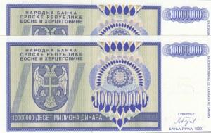 Bosnia Herzegovina, 10 Millard Dinara, 1993, UNC, p148a, ( Total 2 Consecutive Banknotes)