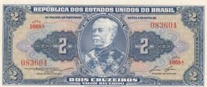 Brasil, 2 Cruzeiros, 1953, UNC, KM:157Ac