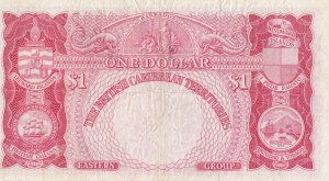 British Caribbean, 1 Dollar, 1961, VF, p7c