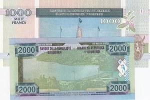 Burundi, 1000 Francs and 2000 Francs, 2006/ 2008, UNC, p39d/ p47