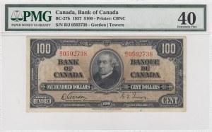 Canada, 100 Dollars, 1937, XF, p27b