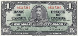 Canada, 1 Dollar, 1937, UNC (-), p58e