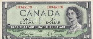 Canada, 1 Dollar, 1954, AUNC, p66a