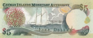 Cayman Islands, 5 Dollars, 2009, UNC, p34b
