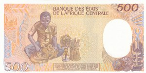 Central African Republic, 500 Francs, 1987, UNC, p14c