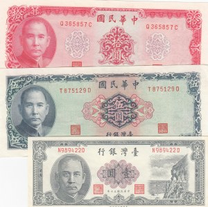 China, 1 Yuan, 5 Yuan and 10 Yuan, 1961-1972, UNC, p1971/ p1978/ p1979, (Total 3 Banknotes)