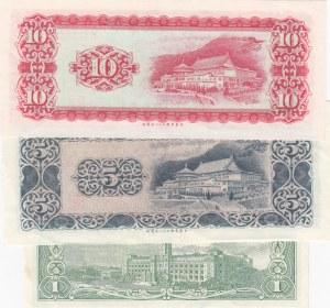 China, 1 Yuan, 5 Yuan and 10 Yuan, 1961-1972, UNC, p1971/ p1978/ p1979, (Total 3 Banknotes)
