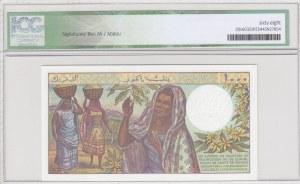 Comoros, 1000 Francs, 1986, UNC, p11b, HIGH CONDITION