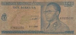Congo Democratic Republic, 10 Makuta, 1967, VF, p9a