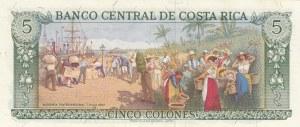 Costarica, 5 Colones, 1970, UNC, p236b